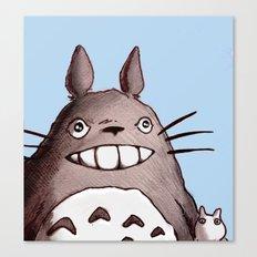 My Neighbor Totoro Illustration Canvas Print