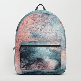 Pink and Blue Oasis Backpack