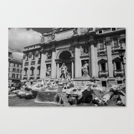 A Wish in the Trevi  Canvas Print
