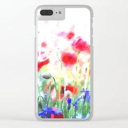 Poppy Haze Clear iPhone Case