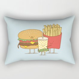 family meal Rectangular Pillow