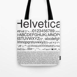 Helvetica (Black) Tote Bag