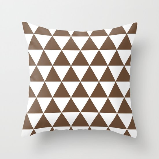Triangles (Coffee/White) by 10813apparel