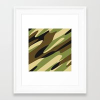 camo Framed Art Prints featuring Camo by SShaw Photographic