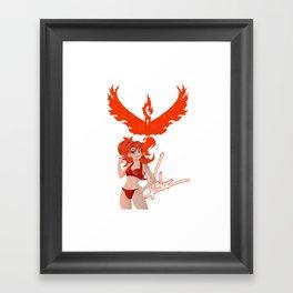 Team Valor Girl Framed Art Print
