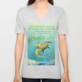 Inspirational Sea Turtle Unisex V-Neck