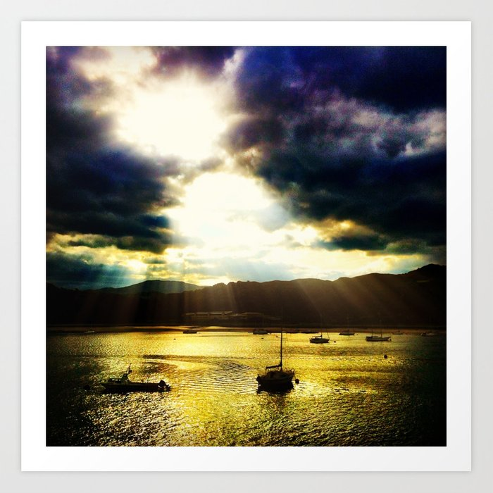 Conwy Sunset Art Print
