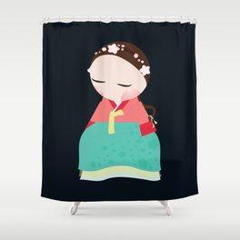 Little korean doll Shower Curtain