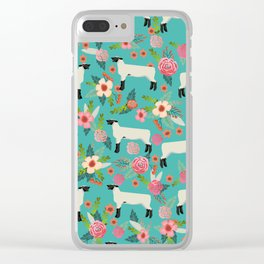 Show Lamb farm floral gifts homesteader farming sheep lamb animal Clear iPhone Case