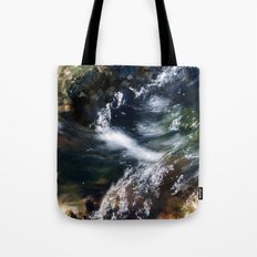 Water Flowing Over the Rocky Shallows Tote Bag