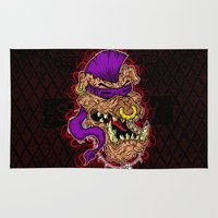 bebop Area & Throw Rugs featuring Bebop is infected! by DesecrateART (Infected)
