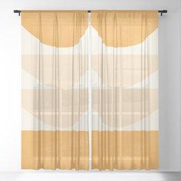 Abstract Shapes 36 Sheer Curtain