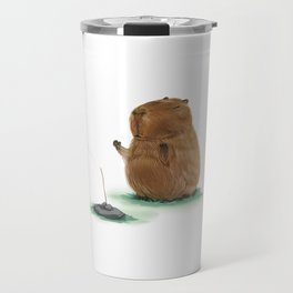 Meditating Capybara Travel Mug