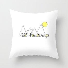 Wild Wanderings Throw Pillow