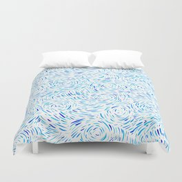 Dashed Waves Duvet Cover