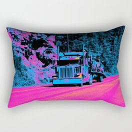 Big Rig Highway Hauler Rectangular Pillow