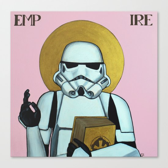 """EMPIRE"" - Star Wars, Stormtrooper Canvas Print"