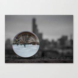 Upside Down Chicago Canvas Print