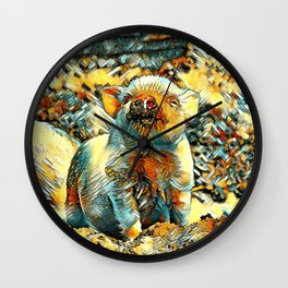 AnimalArt_Piglet_20170601_by_JAMColorsSpecial Wall Clock