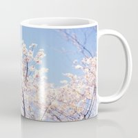 cherry blossoms Mugs featuring Cherry Blossoms by myhideaway