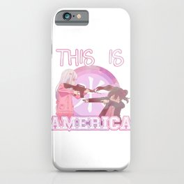 THIS IS AMERICA - FUNNY ANIME JAPANESE MEME AESTHETIC iPhone Case