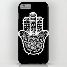 Black & White Hamsa Hand iPhone Case