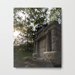 Mausoleum in the Sunset Metal Print