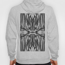 277 - Black & White Abstract Flower design Hoody