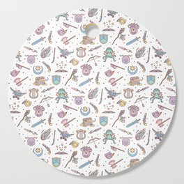 Cute Dungeons and Dragons Pattern Cutting Board