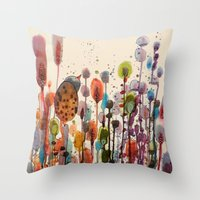andreas preis Throw Pillows featuring je suis là by sylvie demers