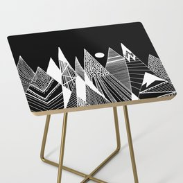 Patterns in the mountains Side Table