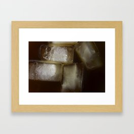 Iced coffee Framed Art Print