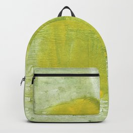 Green abstract aquarelle painting Backpack