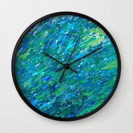 Shades Of Blue Waterfall Wall Clock