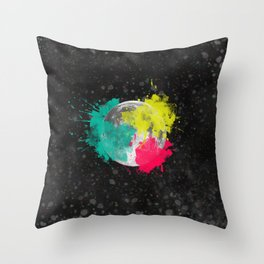 Moon + Neon Throw Pillow