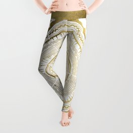 Gold Tree Rings Leggings
