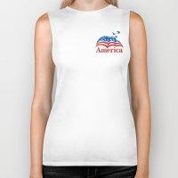 america Biker Tanks featuring America by corsetti