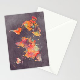 world map 67 Stationery Cards