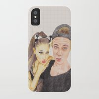 ariana grande iPhone & iPod Cases featuring Ariana and Justin by Share_Shop