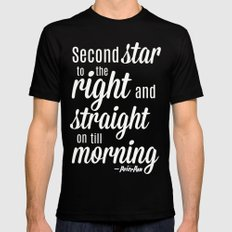 Peter Pan Quote Mens Fitted Tee Black X-LARGE