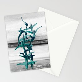 Flying Seagulls. Minimal Abstract Art Stationery Cards