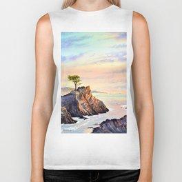 Lone Cypress Tree Pebble Beach California Biker Tank