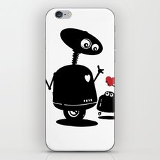 Robot Heart to Heart iPhone & iPod Skin