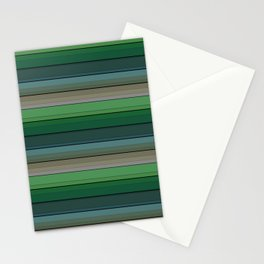 Striped green-gray pattern Stationery Cards