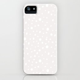 Modern hand painted mauve pink white polka dots iPhone Case