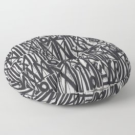 A urban city photograph of wall and a graffiti in Arab style Floor Pillow