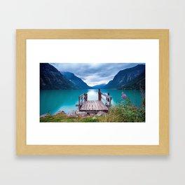Magnificent Pier In Bergen Norway Ultra HD Framed Art Print