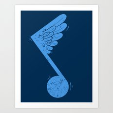 Flying Note Art Print