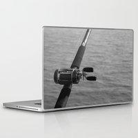fishing Laptop & iPad Skins featuring Fishing by Raymond Earley