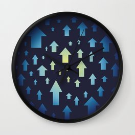 Arrows pattern up. Abstract design of vertical arrows. Wall Clock
